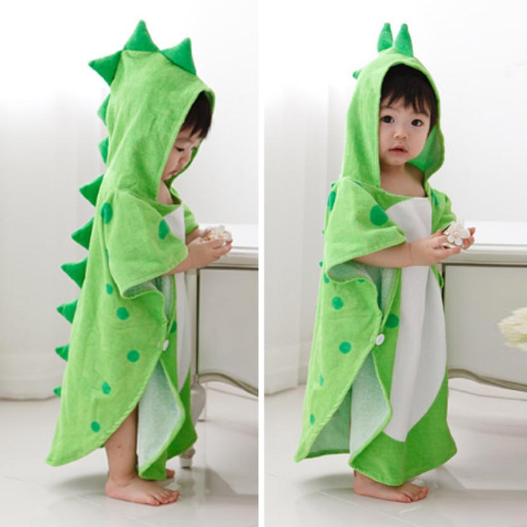 ARLONEET Infant Baby Boys Girls Kids Bathrobe Cartoon Dinosaur Hooded Bath Towel Pajamas For Baby Girls And Boys P25
