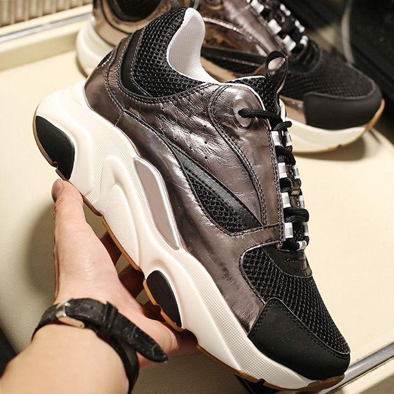 Christian Dior Mode classique B22 toile et cuir de vachette Sneaker Chaussures Hommes confortable en plein air Marche Vintage lacets Hommes Chaussures Herren Luxus Marken Schuhe