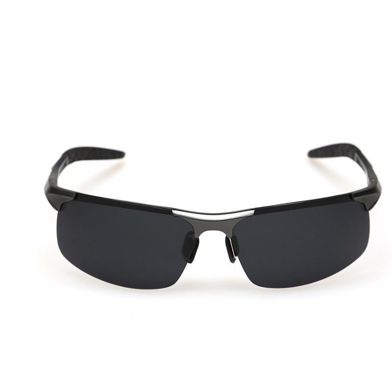 Óculos de sol de alumínio-magnésio polarizados óculos de sol dos homens óculos de esportes ao ar livre espelho de condução óculos de pesca 8177 vendas direto da fábrica