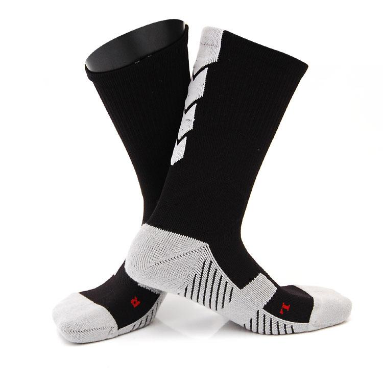 Thicker Male Compression Socks Men Towel Bottom Basketball Training Socks Breathable Slip Soccer Riding Fitness Sock