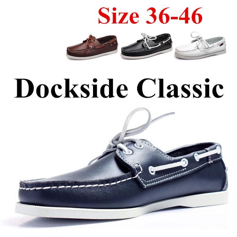 정품 가죽 남성 여성 캐주얼 신발 술 보트 슈즈는 클래식 로퍼는 모카신 운전 신발 영국의 플랫 (5) # 22 / 20D50을에 슬립