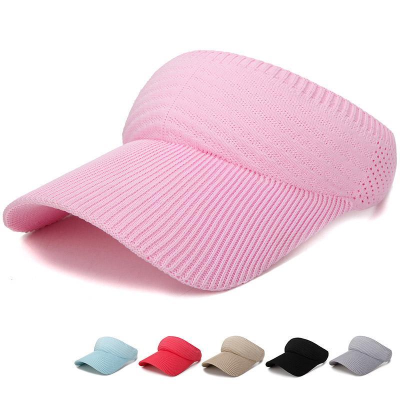 Nuevo visera del sombrero del verano de las mujeres de golf Sombrero de sol gorras de béisbol ajustable Tamaño Viseira Gorros playa vacía Top Cap Cap Deportes