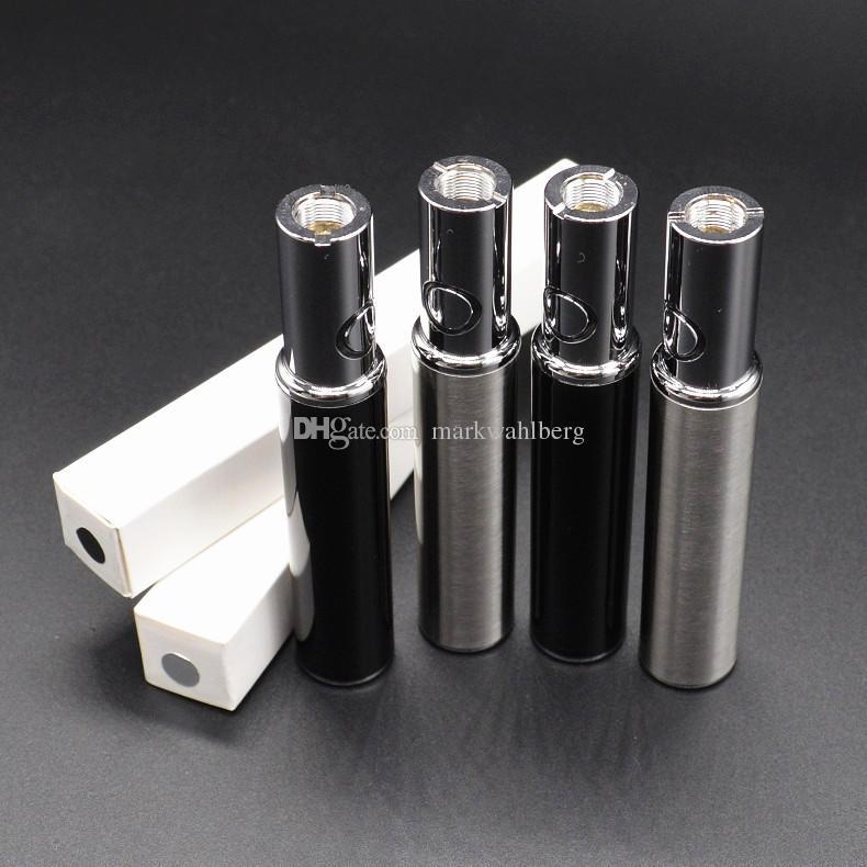 Free DHL variable voltage bud pen preheat battery 450mah bottom charger USB pass through vape lipstick battery 510 thread ceramic coil tank