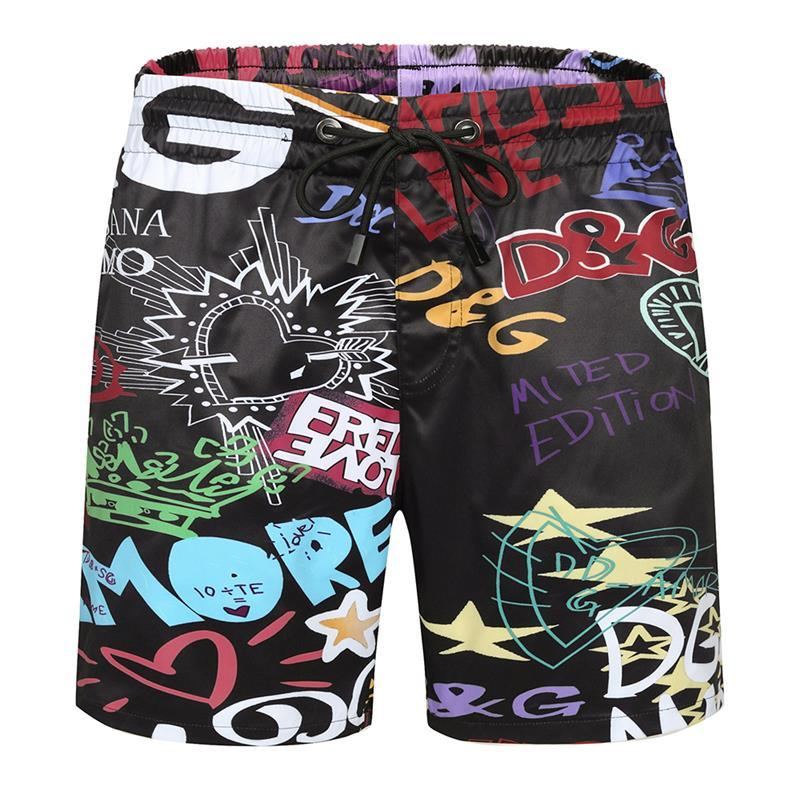 NOUVEAUX hommes Styliste Shorts pantalons de plage pour hommes occasionnels Sport courts Pantalons simple taille Shorts Respirant M-3XL