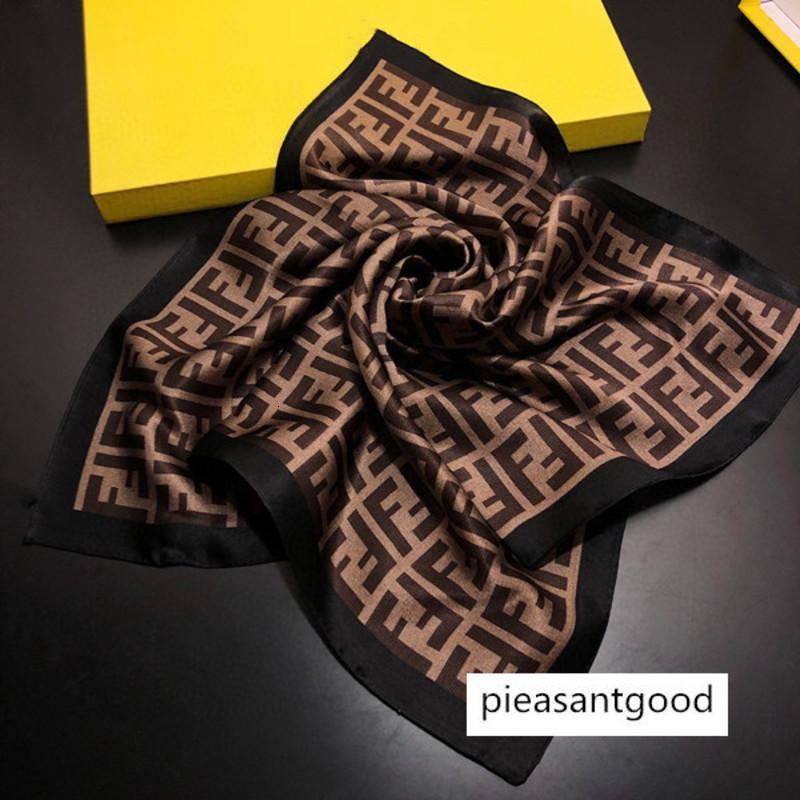 Banda Wrap del legame dei capelli del progettista Piccola Piazza sciarpa raso capo della sciarpa di collo Foulard Femme Bandana donne eleganti Fazzoletto sciarpa 50 * 50cm nessuna scatola