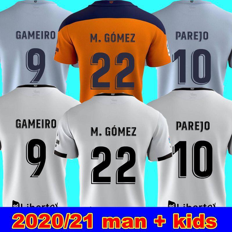 20 21 فالنسيا لكرة القدم الفانيلة رودريغو 2020 2021 PAREJO M. غوميز قميص كرة القدم الزي الرسمي رودريغو M. فالنسيا مانو فيران الرجال + الاطفال كيت
