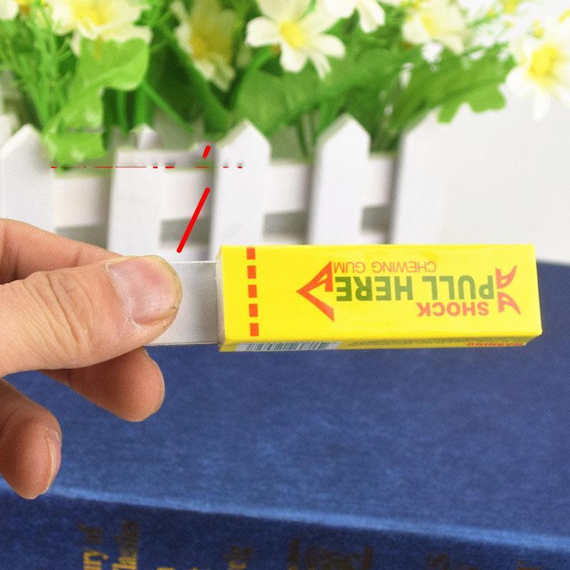 Novidade itens interessantes Gag brinquedos choque elétrico chocante Pull Cão principal Chewing Gum Truque Gags Segurança Joke Toy Novidade Menor Preço
