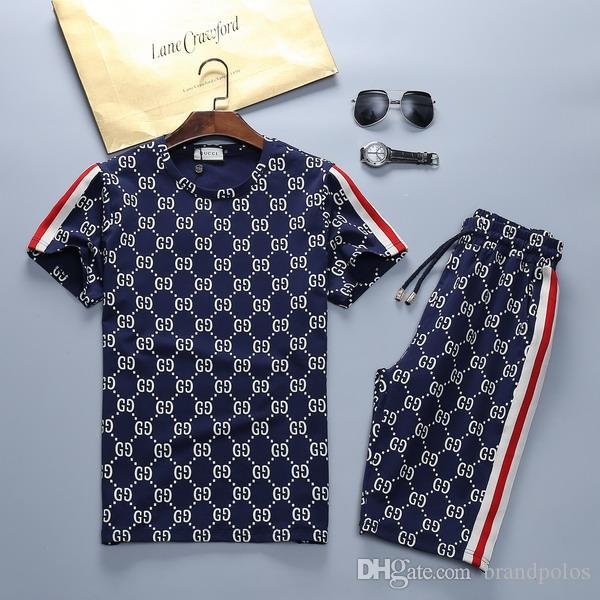 Men's new brand designer suit T-shirt and pants men's cotton short sportswear Medusa summer suit short sports suit 2 sets