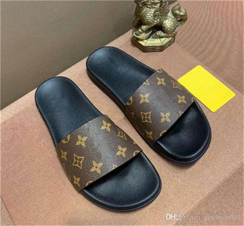 Nuevo tamaño de moda EUR 35-44 Zapatillas Ventilar Flattie Sandal Letra L Diseño Marca Zapatillas Zapatillas abiertas para los amantes