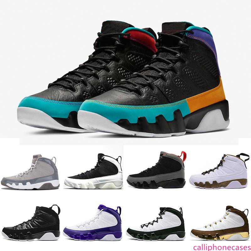 US8-13 UNC 9 IX de Dream It Mens Basketball Chaussures Cool Gray LA Noir Blanc Haute Bred Oreo L'esprit sportif Chaussures de sport 41-47