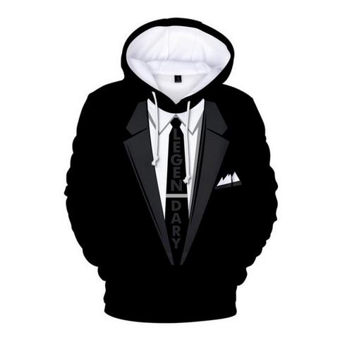 Out Fashion Streetwear 3D HD Imprimir Casual Tuxedo Hoodies Sudaderas Hombres Mujeres Hoodie Jacket Coat LMS039