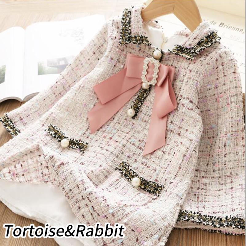 Moda Kız Klasik tasarlanan elbise Prenses Çocuk Casual Sevimli Şık Çocuk Kısa kollu elbise 3-8 yaşında kız kıyafetleri LY191227 için