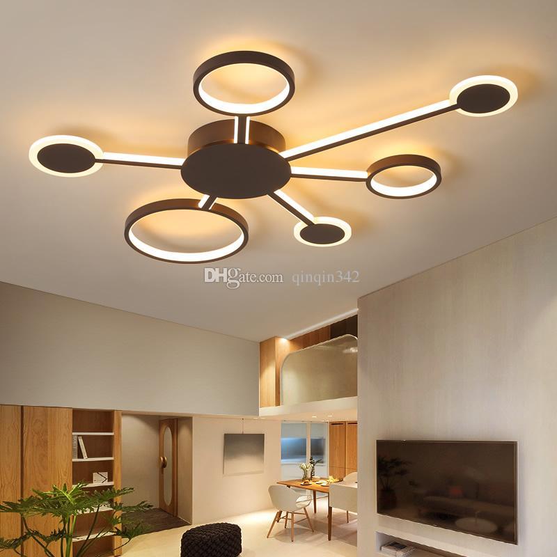 تصميم جديد الحديثة أدى أضواء السقف غرفة المعيشة غرفة نوم الدراسة المنزل القهوة اللون الانتهاء مصباح السقف