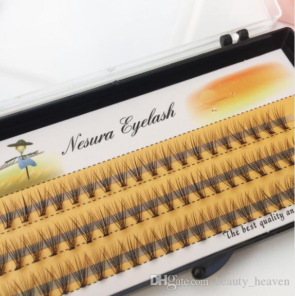 1 caja de gran capacidad de 60 paquetes Extensión de cabello con pestañas injertadas, 0.1 mm Grosor pestañas de tira de visón reales Pestañas falsas individuales