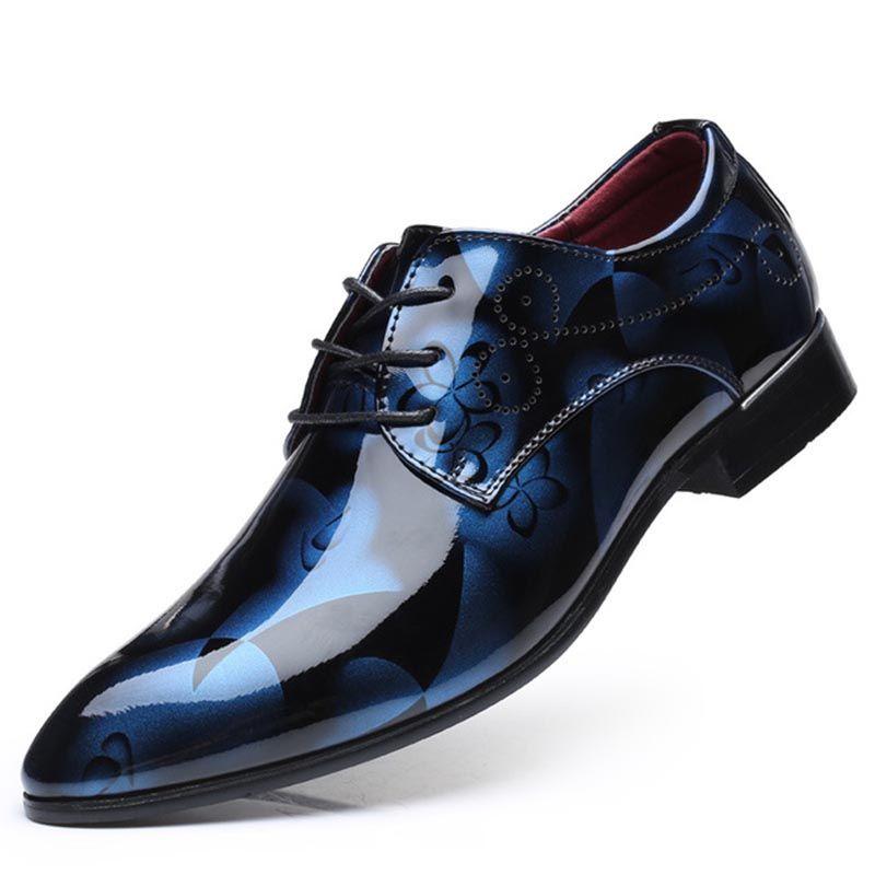 Neue Art und Weise Oxford-Schuhe für Männer Low Loafers Kleid Schuhe Herren Formelle Schuhe Spitze Zehe-Geschäft Hochzeit Plus Size 37-50