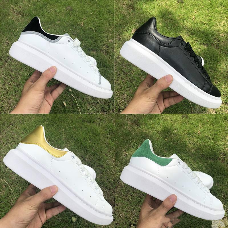 Luxe Designer Chaussures Casual Chaussure en cuir solide Couleurs plat 3M réfléchissant des femmes des hommes du Parti Chaussures de sport de mode Plate-forme Formateurs Velvet