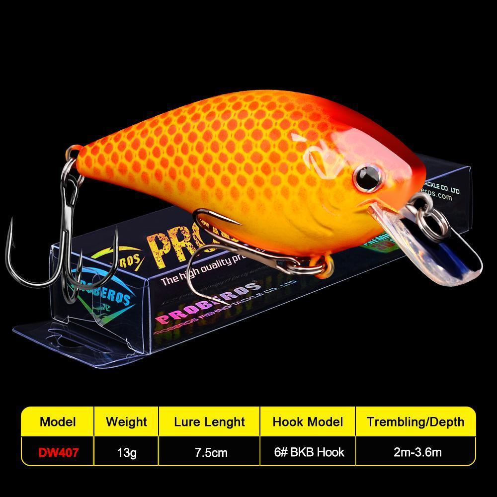 1Pc Pro Beros Topwater Crankbait Fishing Lure 7.5Cm 13G Artificial Wobblers Crank Bait Bass Trout Carp Fishing Tackle mRbbZ