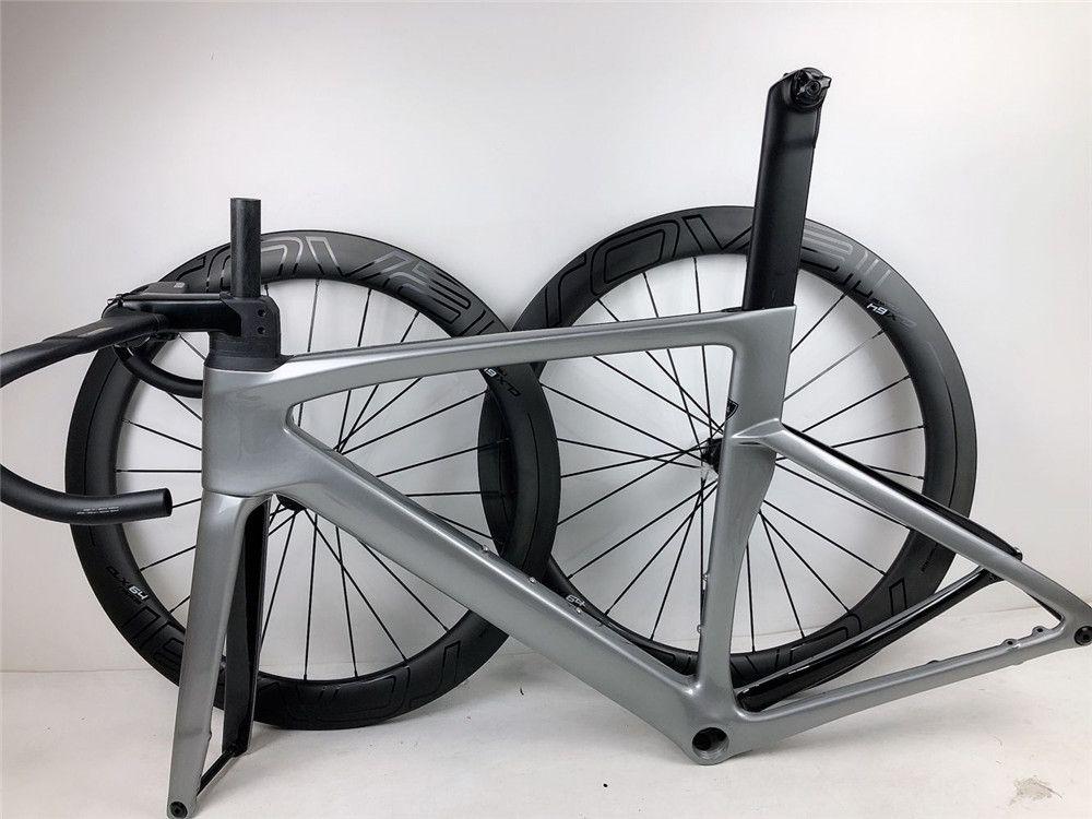 Gidon kök 700C yol karbon bisiklet disk fren çerçeveleri Özel LOGO ile Di2 grubu için uygun yüksek kaliteli yol bisikleti karbon çerçeve