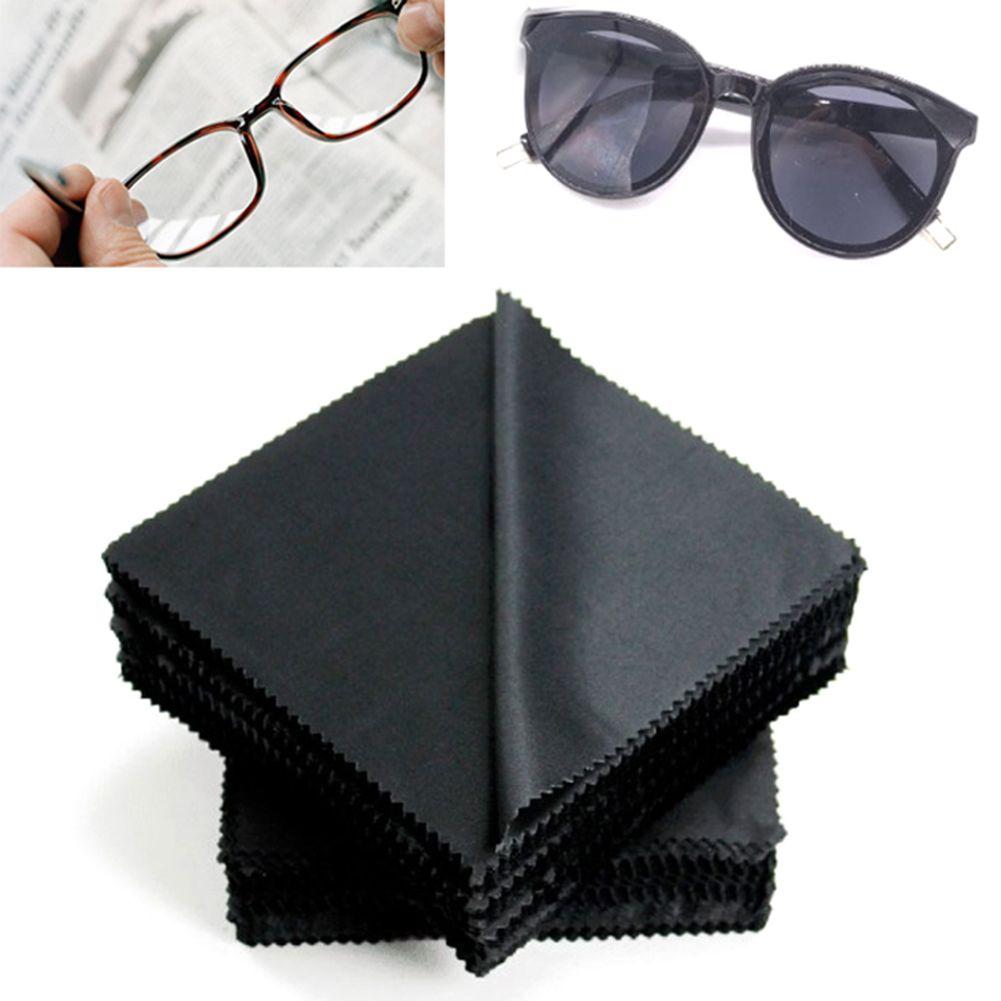 20 pcs/lot Black Microfiber Sunglasses Eyeglasses Cleaning Cloth 13*13cm Glasses Eyewear Clean Lens Cloth Accessories