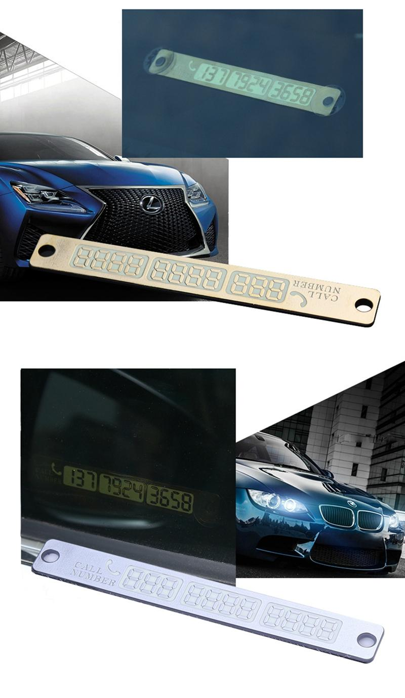 Temporary Car Parking Card Telephone Number Card (4)