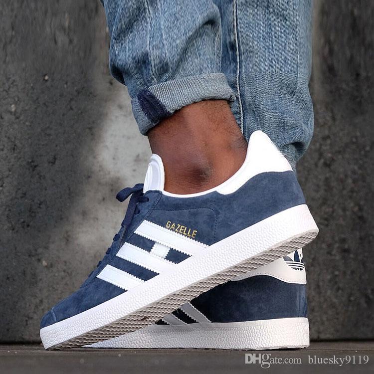 2020 Unisex GAZELLE Klasik Casual Düz ayakkabı Süet Sneakers Açık Hafif Erkekler Kadınlar Zapatillas Yürüyüş Yürüyüş Ayakkabı 36-45 A612