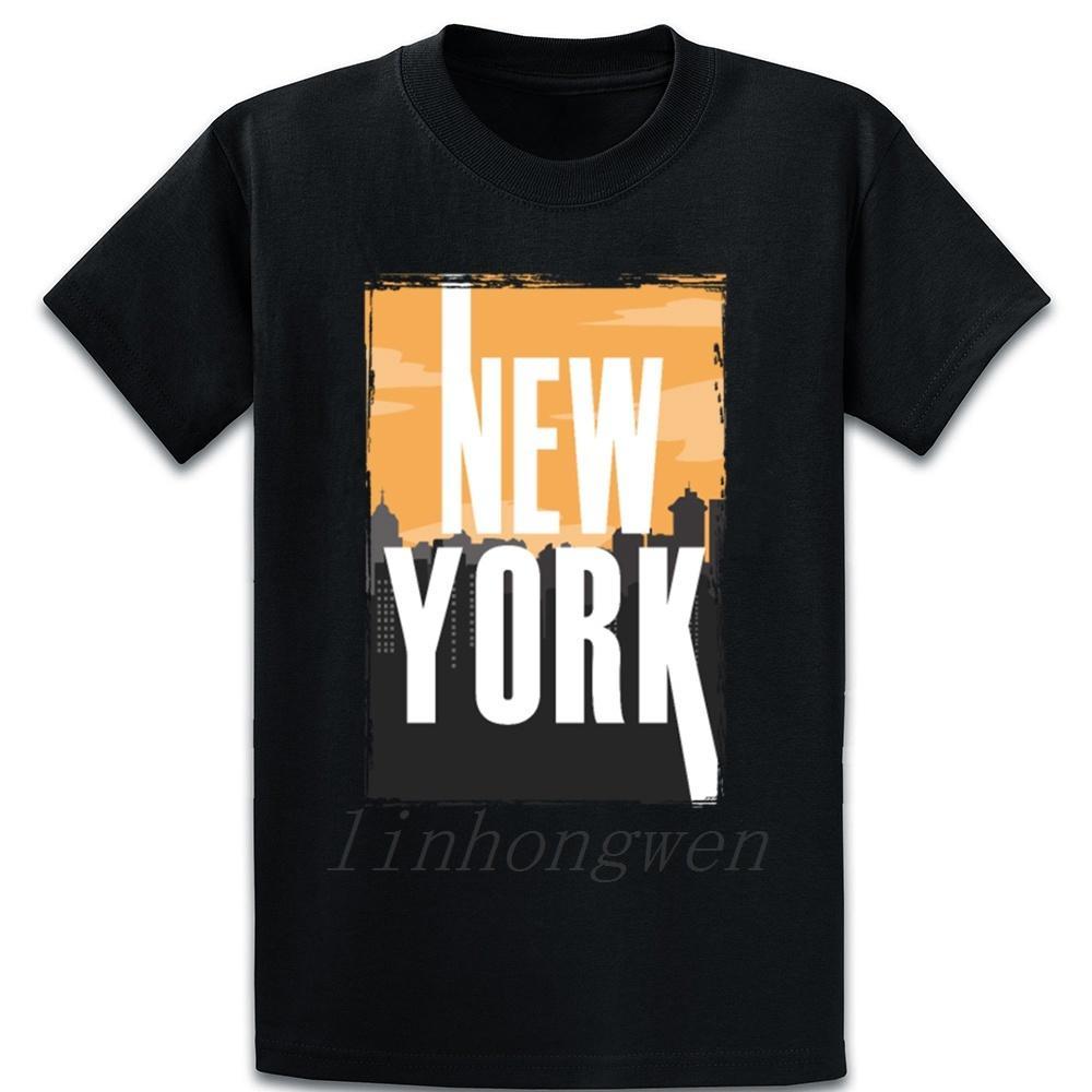 New York Cites Buildings Cool Gift Idea T Shirt Spring Letter Plus Size 5xl Trend Graphic Cotton Humor Design Shirt