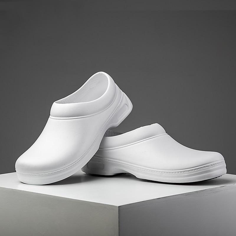 White Work Shoes Men Chef Shoes Non