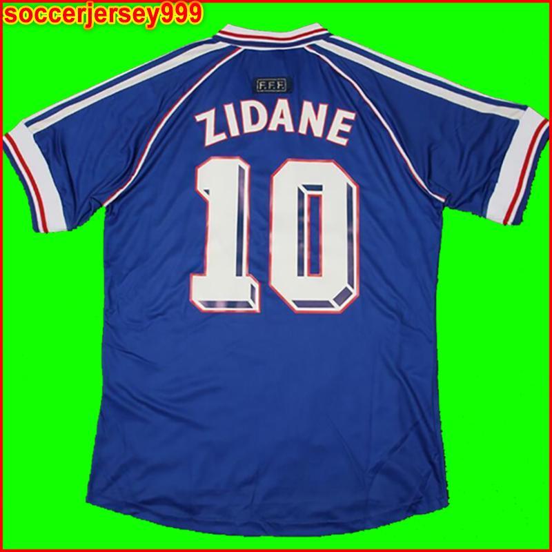 Fransa 1998 geçmişe ait eski Francais futbol forması zidane 10 henry 12 üniformalar formalarını de la equipe de de ayak Maillots Maillot'a