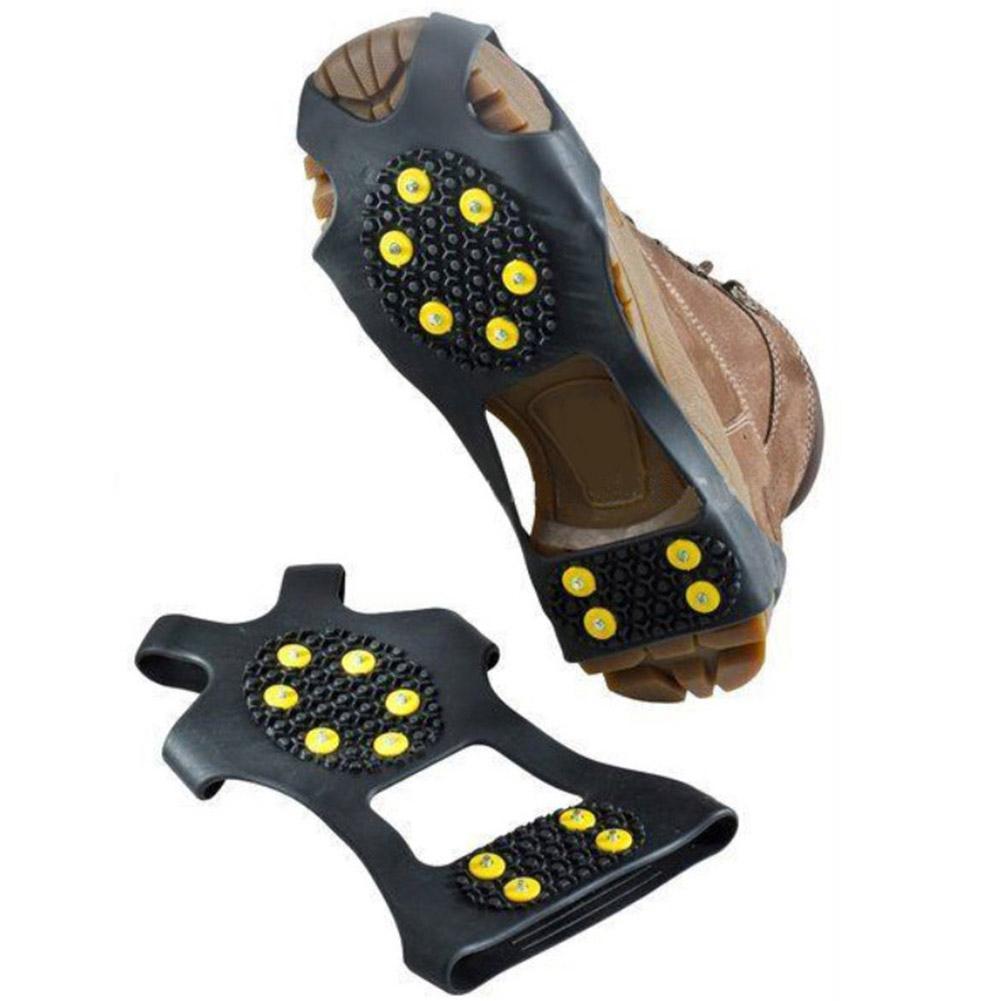 10 Climbing Shoe Spikes Grips Ramponi morsetti Copriscarpe Ramponi Spike Shoes Studs Anti-Skid Neve Ghiaccio Crampon 1 Pair