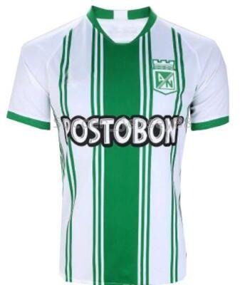 19 20 Atletico Nacional Medellin H.BARCOS Soccer Jersey Club Medellin 2019 2020 Home Football Short Sleeve Sports Brazil Football Shirt