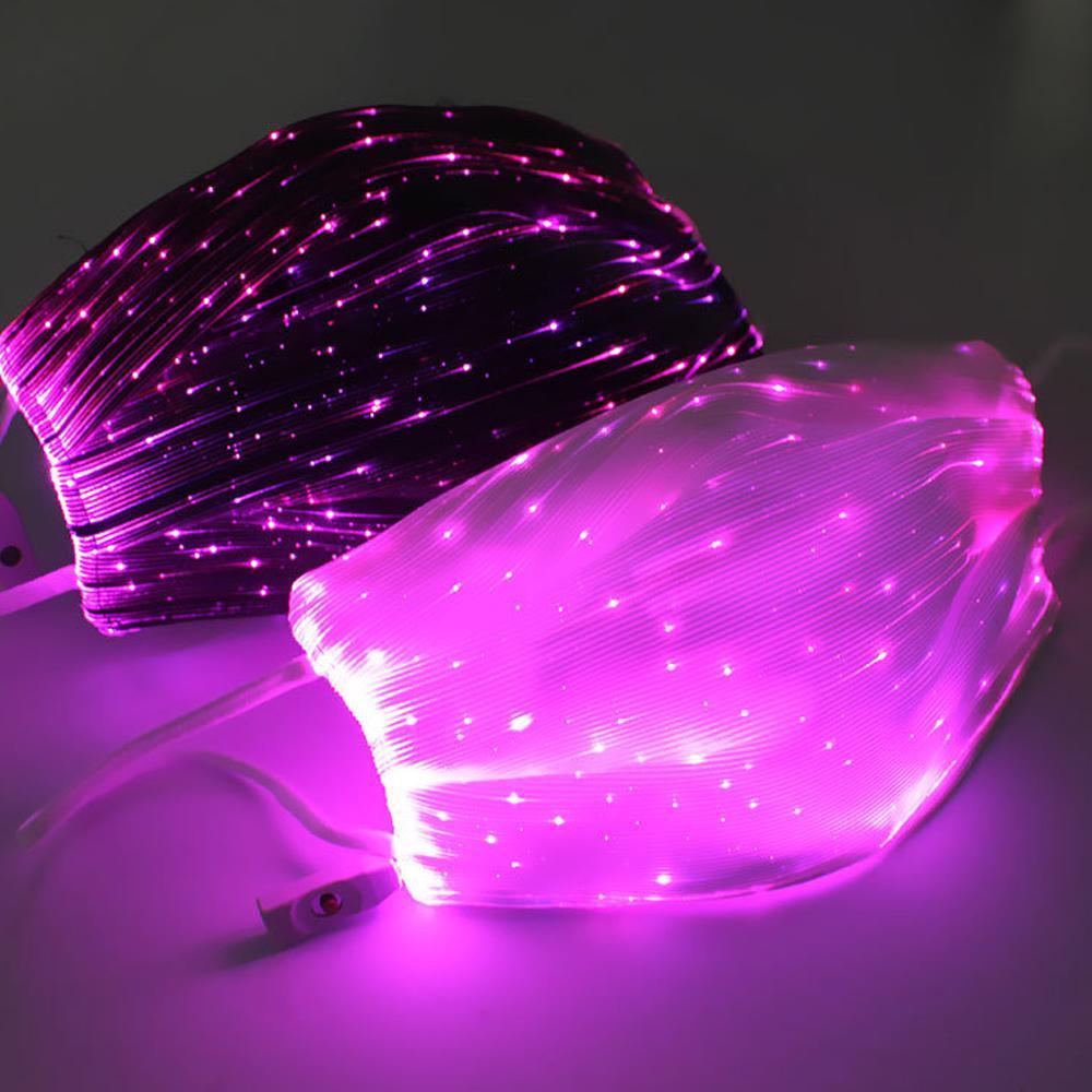 브레이크 댄스 DJ 음악 파티 할로윈 보호를위한 USB 충전 얼굴 마스크와 2020 LED 안티 먼지 마스크 7 색상 변경 가능 루미 너스 마스크