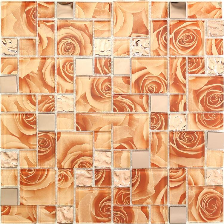 2020 Orange Rose Glass Mosaic Kitchen Backsplash Tile Jmfgt095 Rose Gold Stainless Steel Metal Glass Mosaic Bathroom Wall Tile From Sophie Charm 16 88 Dhgate Com