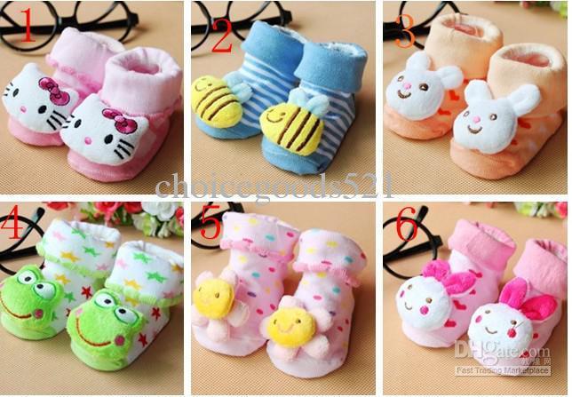 calzini solidi bambino all'ingrosso / calze Baby Doll / calzini del pavimento antiscivolo 20 accoppiamenti / l