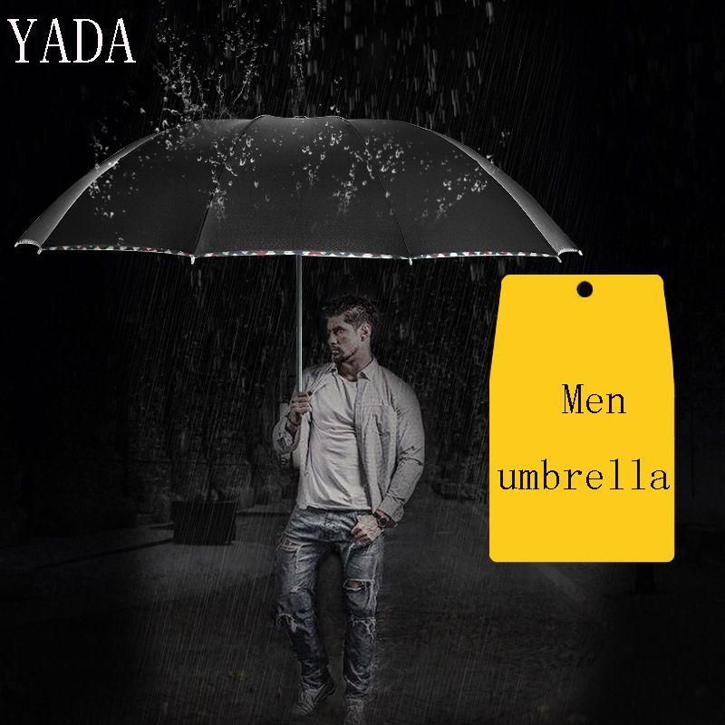 YADA Özel Charm Katı Renk Katlanır Şemsiye Yağmur Kadınlar uv Kadınlar Erkekler Için Marka Yüksek Kalite Şemsiye Rüzgar Geçirmez Şemsiye YS312