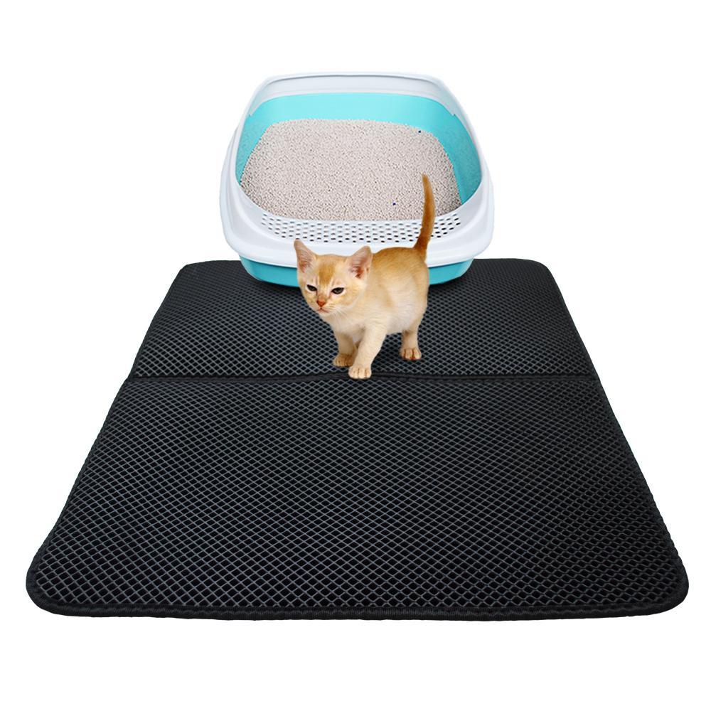 방수 바닥 레이어 미끄럼 방지 애완 동물 쓰레기 고양이 침대 매트 고양이 쓰레기 매트 EVA 더블 레이어 고양이 매트 쓰레기 사냥꾼 매트