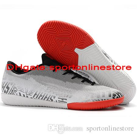 2019 Mens Soccer Shoes Low Mercurial VaporX XII Academy IC Soccer Cleats Indoor CR7 Football Boots Mercurial Superfly Scarpe Da Calcio Shoes Online