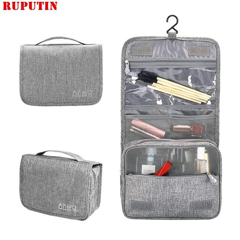 RUPUTIN Fashion Travel Cosmetic Bag Female Waterproof Beauty Women Makeup Bags Bathroom Organizer Portable Bath Hook Wash Bags