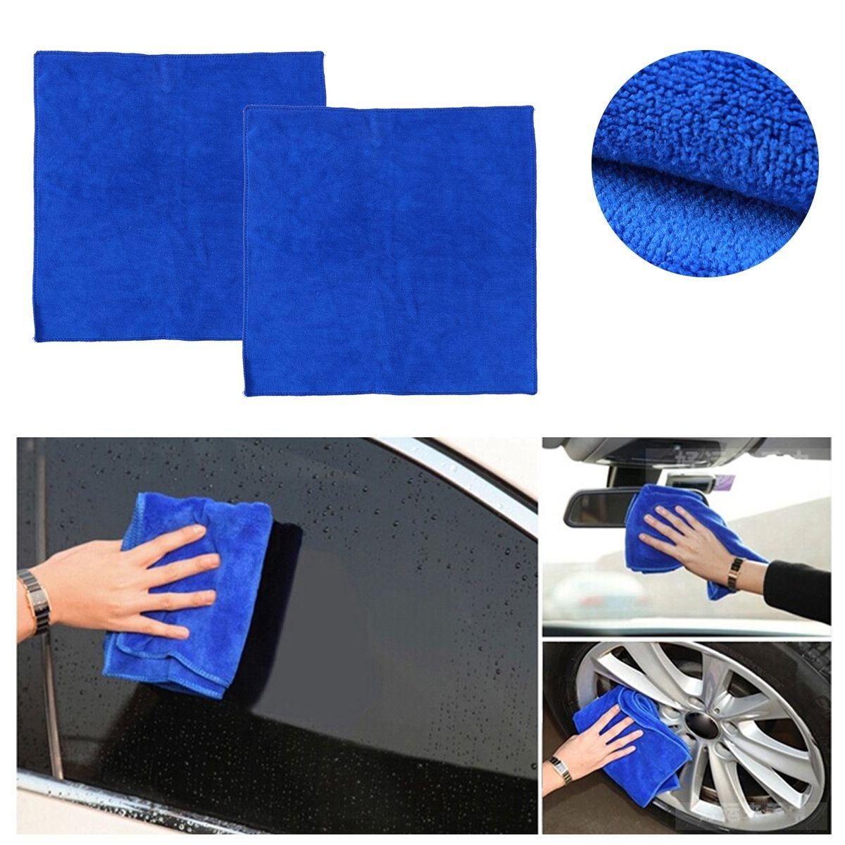 20шт сухие полотенца очистки полотенце 40x40cm мыть ткань автомойка ткань воск полировка нано микрофибры автомойка полотенце