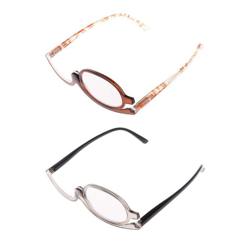 Women Makeup Magnifying Reading Glasses Rotary Flip Make Up Eye Glasses +1 +1.5 +2 +2.5 +3 +3.5 +4.0
