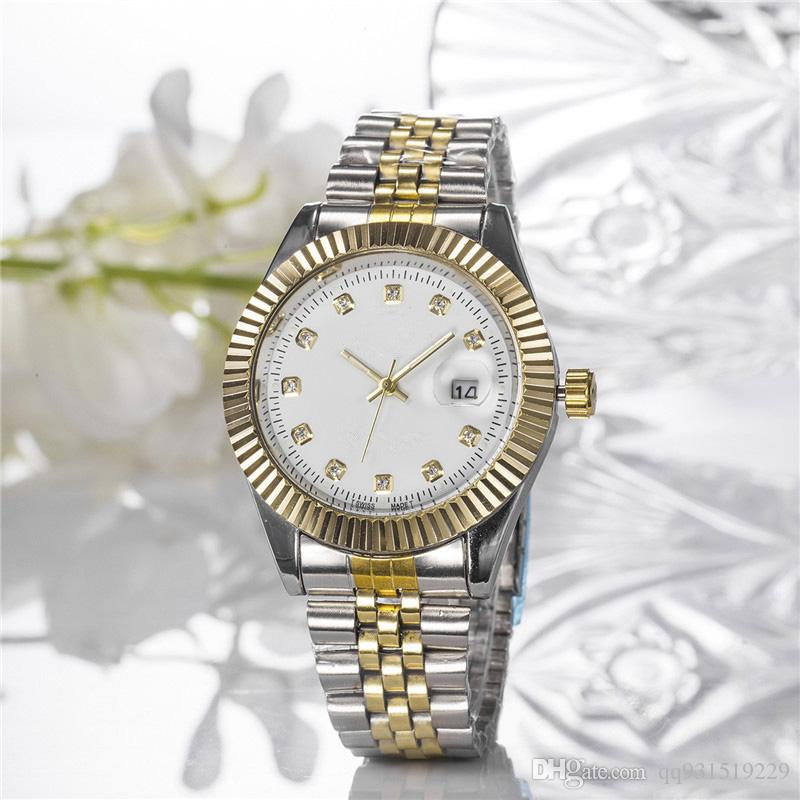 2019 New model Luxury Fashion lady Calendar dress watch Famous Brand full diamond Jewelry Man Women watch High Quality Wrist