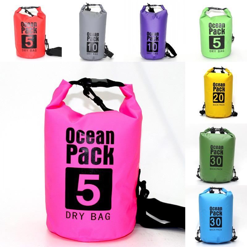 Floating Waterproof Dry Bag Top Sack Keeps Gear Dry For Kayaking Rafting Camping Hiking Waterproof Storage Containers Outdoor Bags M241Y