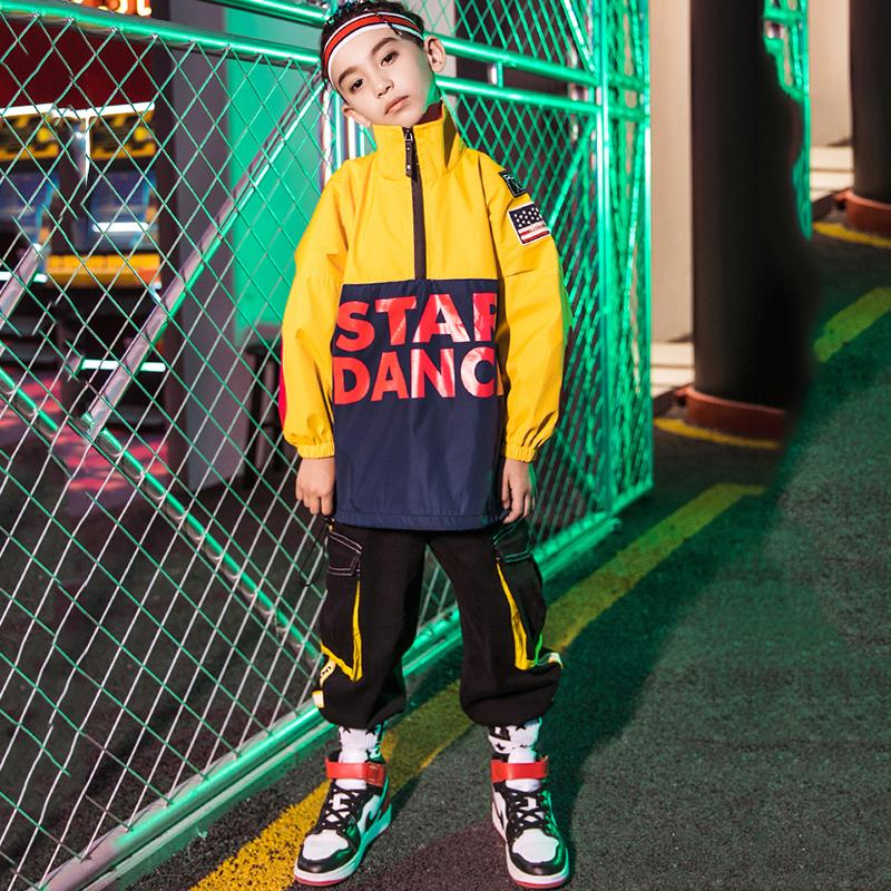 Bailar chicos Hip Hop Danza Disfraces Calle Dancewear Moda suelta Top Kids Jazz Performance ropa moderna vestimenta DN4852 Niño