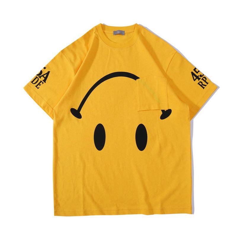 Allemagne Rue Tide Drew House Men Designer T-shirt renversement des tendances dans le lavage Smiley T-shirt en vrac pour faire le vieux femmes Streetwear Marque