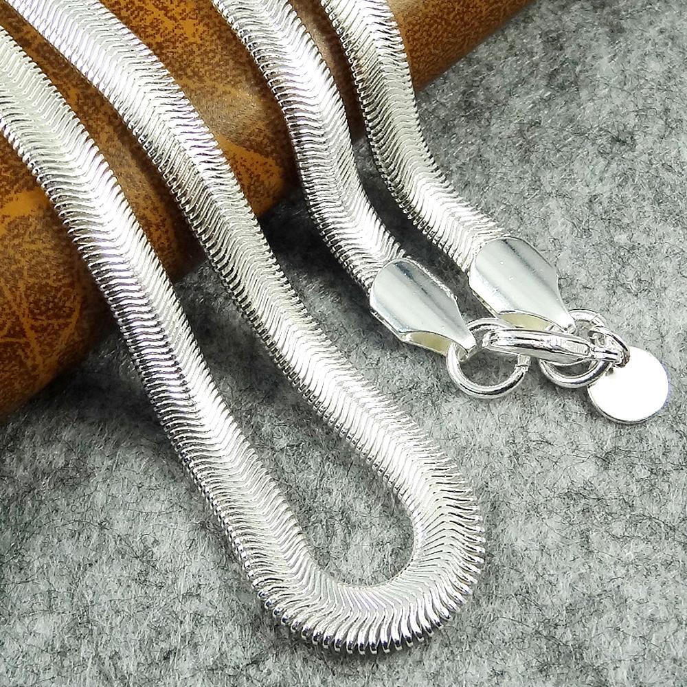6mm 16-24inches Weiche Schlange Knochenkette Halskette für Frauen und Männer Schmuck Gold oder Silber Smoooth Kette Herren Großhandelspreis