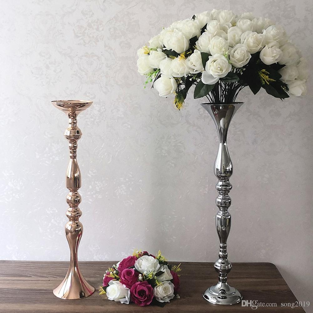 Wedding Floor Stand Flower Vase Candle Holder Wedding Floral Decor Silver L Candle Holders Accessories Home Garden