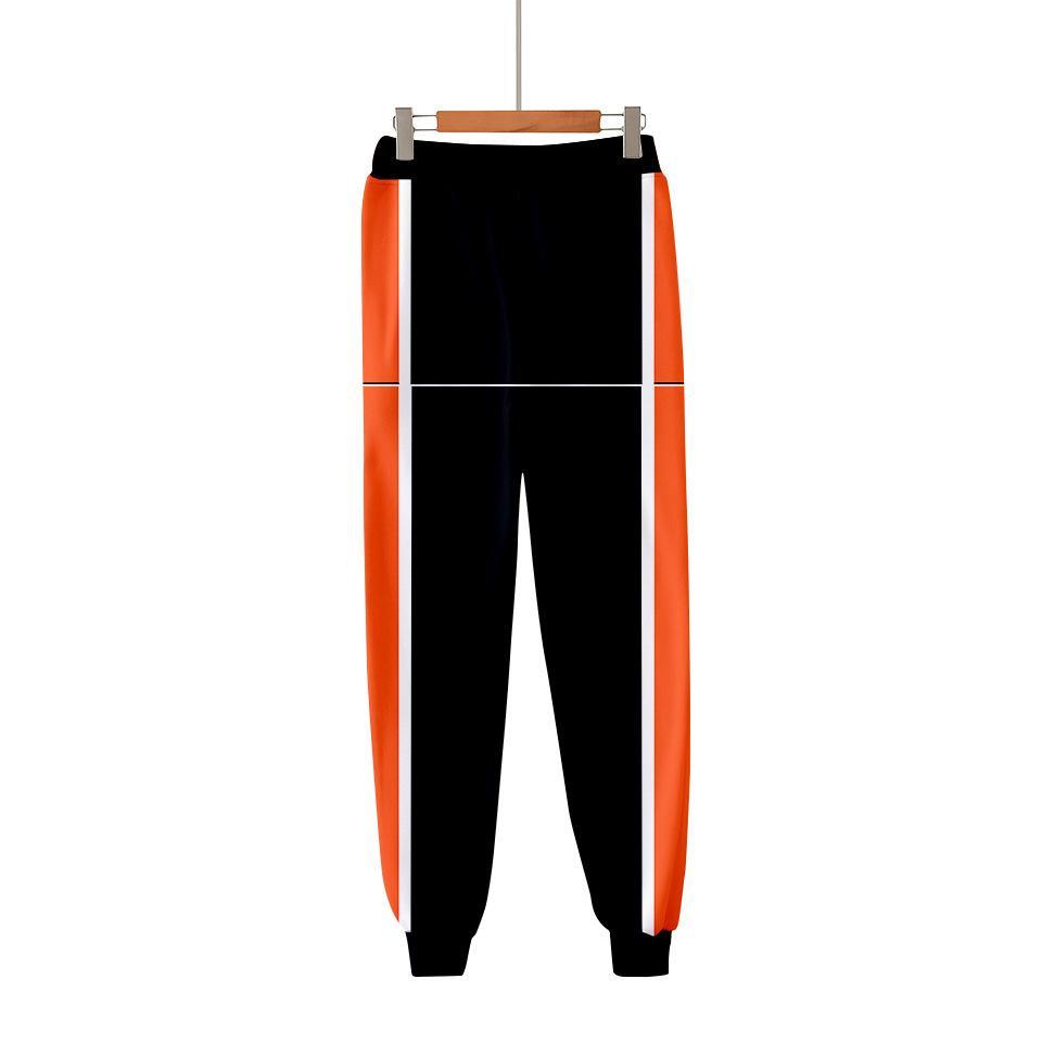 Costumes Anime Haikyuu Karasuno Grau 3D Joggers calças dos homens / mulheres Calças Casual Hip Hop Sweatpants Hinata Shoyo Cosplay