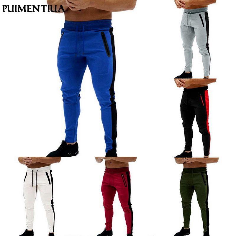 Men's Pants Puimentiua 2021 Hip Hop Joggers Harem Mens Multi- Sweatpants Casual Trousers