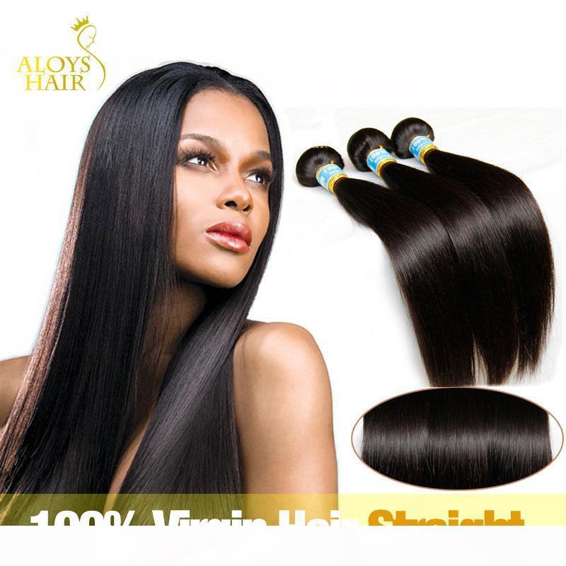 Brasilianische peruanische indischer Malaysian Kambodschaner-Jung Glattes Haar Weave Bundles 100% natürliche Remy Menschenhaar-Verlängerungen einfärbbar verwirren frei