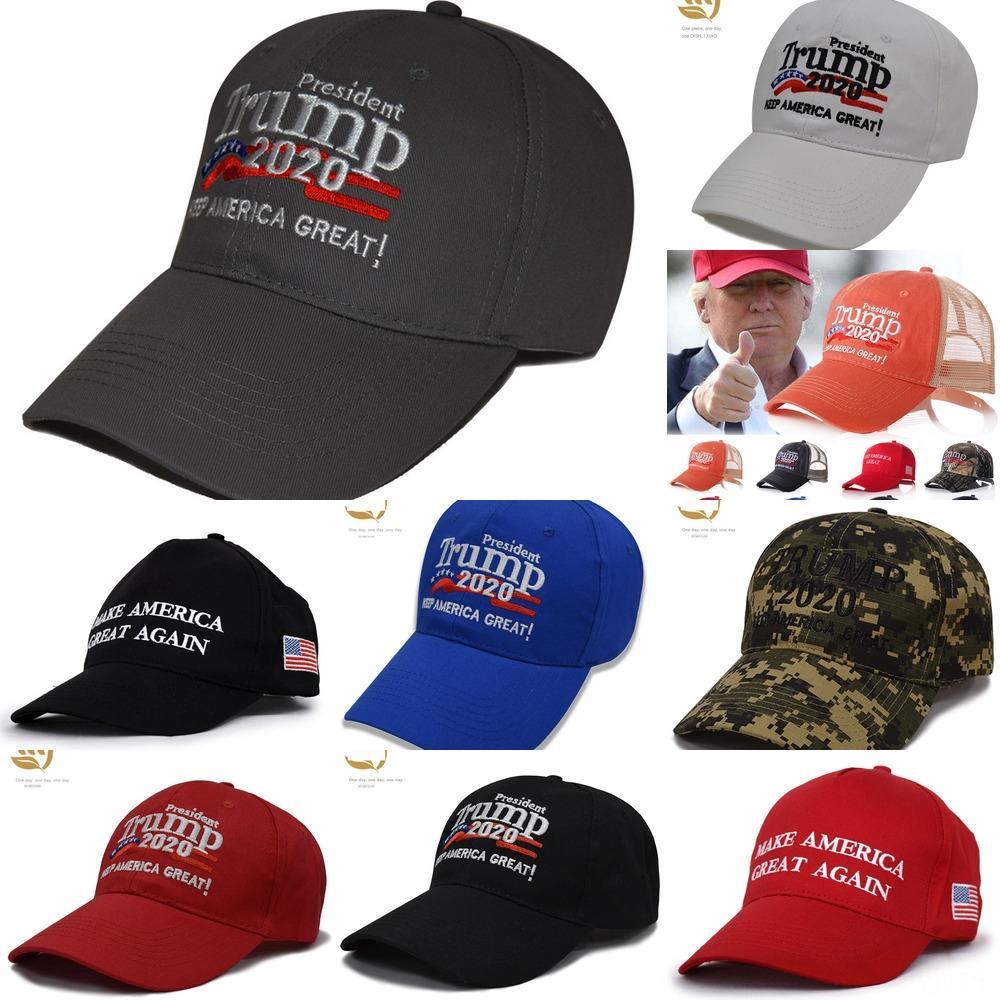 5GbYN Donald Trump 2020 Mantenimiento de béisbol de los sombreros de los hombres Gran bordado de las mujeres de América se divierte el casquillo del visera del sombrero Trump
