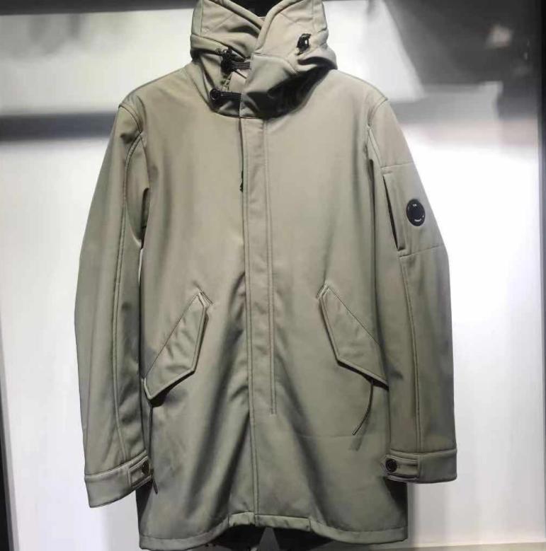 تكتيكات جديدة رجل مصمم المعاطف الشتوية شركة CP في الهواء الطلق سترة الصوف الدافئة معطف رجل تهمة سماكة معطف رجالي سترات X B103340D